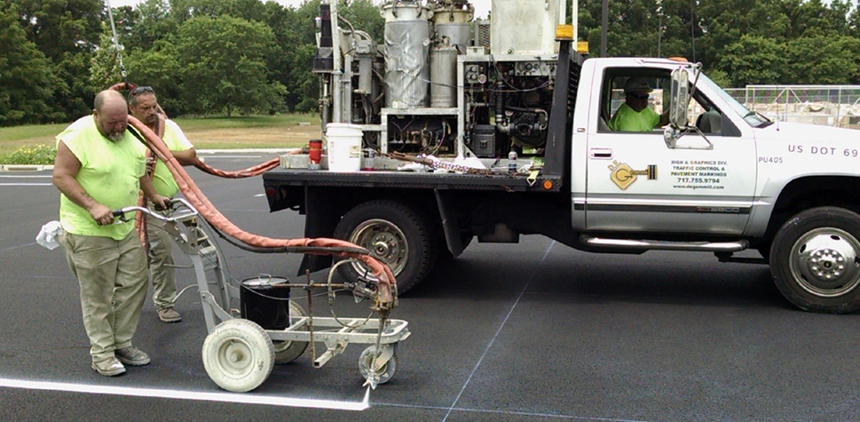 Epoxy Pavement Markings in Central PA & the Surrounding Areas