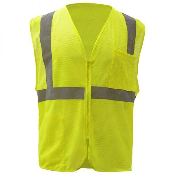 Class 2 Hi Vis Mesh Zippered Safety Vest