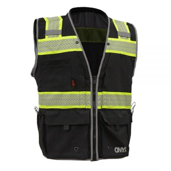 Black Onyx Enhanced Visibility Class 2 Surveyor Vest