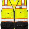 Black Series Class 2 Surveyor Vest with Back Pouch Pocket