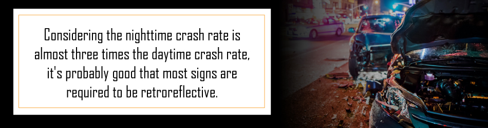 nighttime crash rates higher than daytime accidents