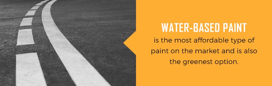 water based pavement paint is affordable and good for the environment