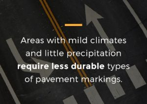 weather conditions affect on pavement paint