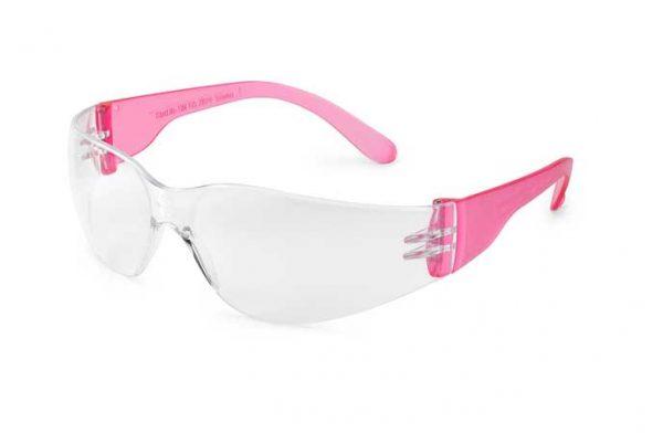 Starlite SM Clear Lens Pink Frame Safety Glasses
