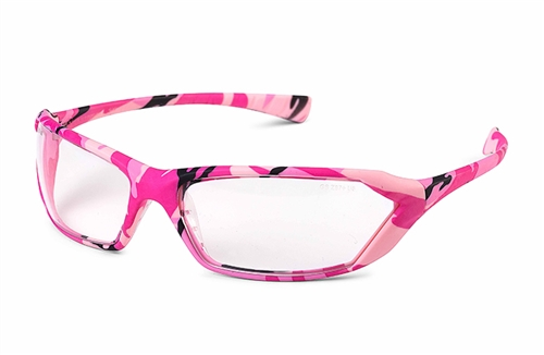 Metro Pink Camo Clear Lens Safety Glasses