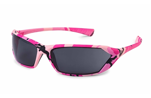 Metro Pink Camo Grey Lens Safety Glasses
