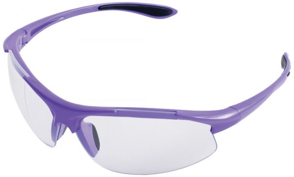 Ella Purple with Clear Lens Safety Glasses