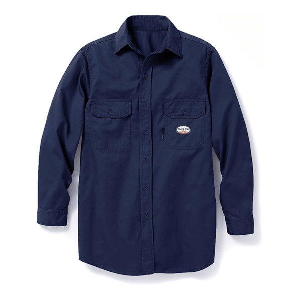 Rasco FR Navy Long Sleeve Dress Shirt