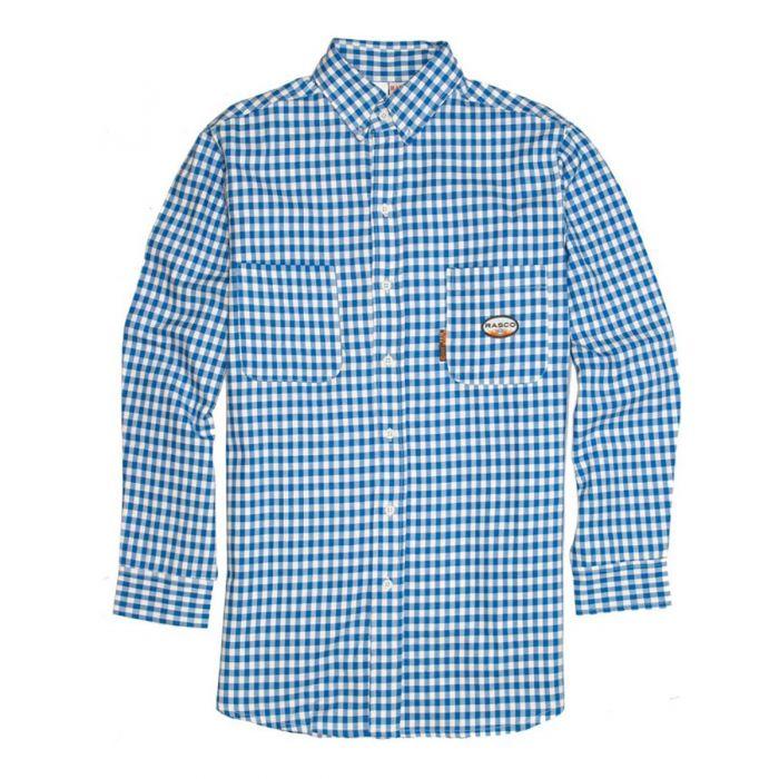 fb858e1d3c41 Rasco FR Blue Plaid Dress Shirt For Sale