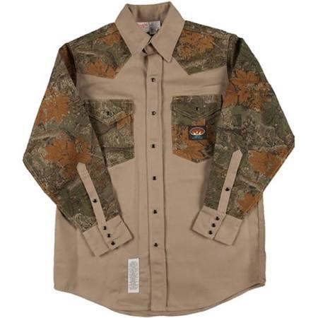 Rasco FR Khaki-Cajun Camo Two Tone Work Shirt