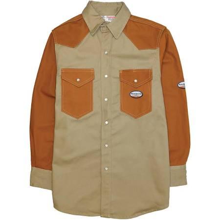 Rasco FR Khaki-Duck Two Tone Work Shirt