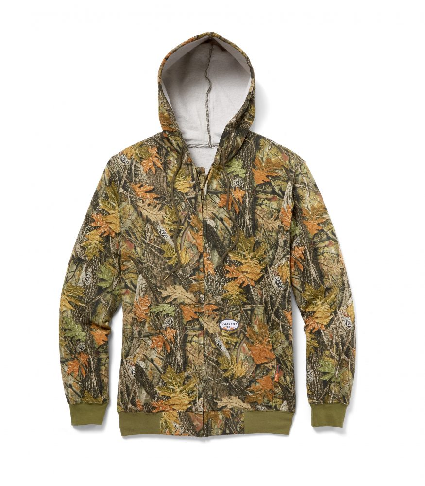 8f2b657d1418 Rasco FR Camo Hooded Zip-Up Sweatshirt For Sale