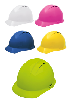 Americana Vented Hard Hats with 4-Point Ratchet Suspension
