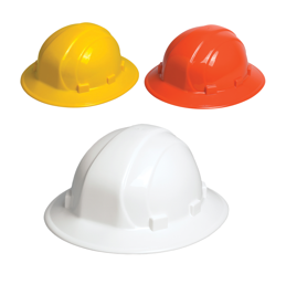 44c9002aa05 Omega II Full Brim Non-Vented Hard Hat with 6 Point Ratchet Suspension