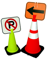 Traffic Control Cone Signs