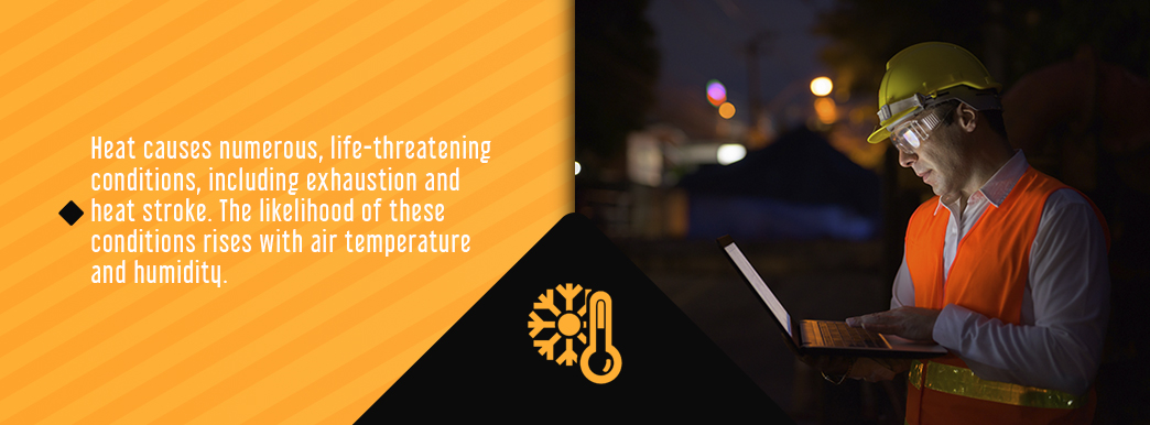 information about the dangers of heat and humidity