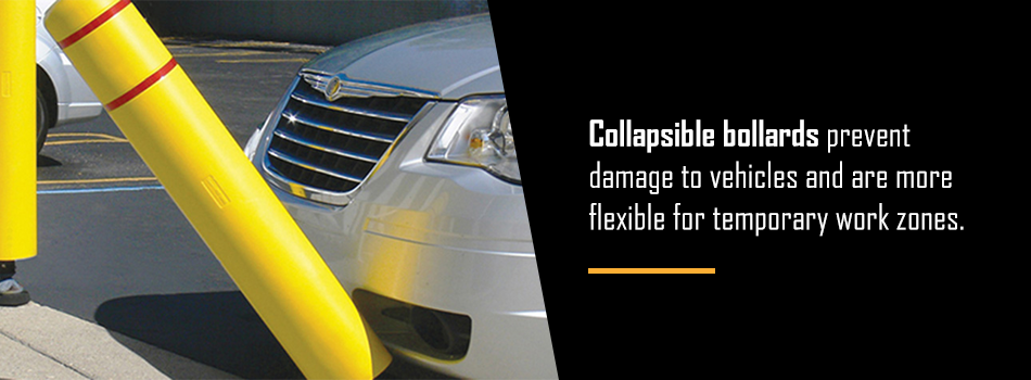 Collapsible Bollards Prevent Vehicle Damage