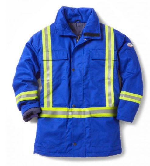 Rasco FR Royal Blue Parka Jacket with Reflective